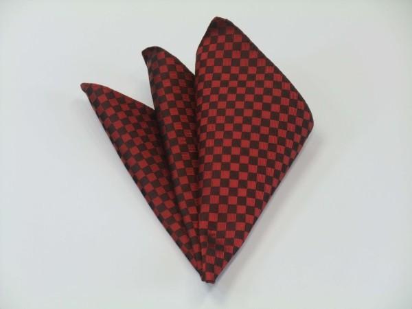 ポケットチーフ【濃い赤(レッド)の市松模様ポケットチーフ】