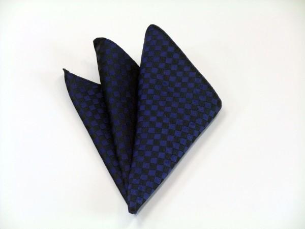 ポケットチーフ【濃い青(ブルー) 市松模様ポケットチーフ】