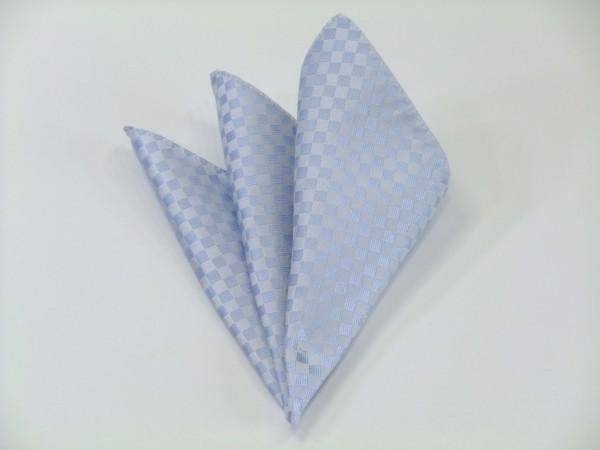 ポケットチーフ【水色の市松模様ポケットチーフ】