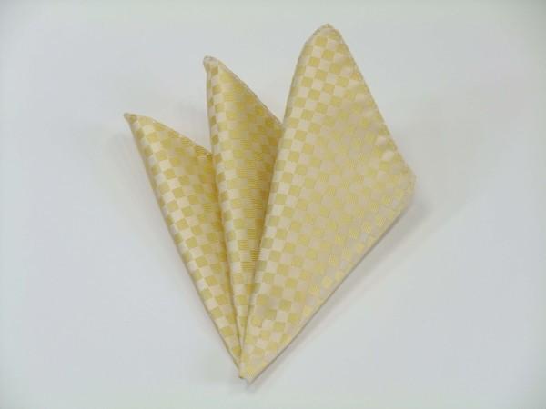 ポケットチーフ【イエロー(黄色)市松模様ポケットチーフ】