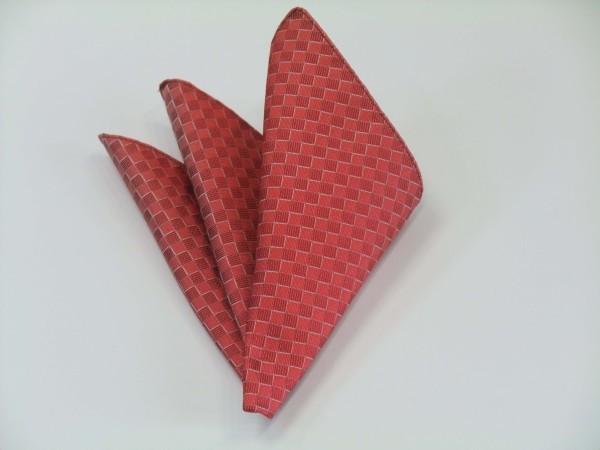 ポケットチーフ【レッド(赤)市松模様ポケットチーフ】