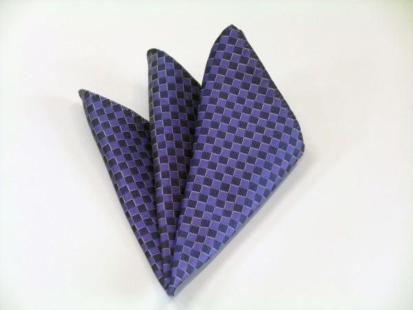 ポケットチーフ【ブルー(青紫)市松模様ポケットチーフ】