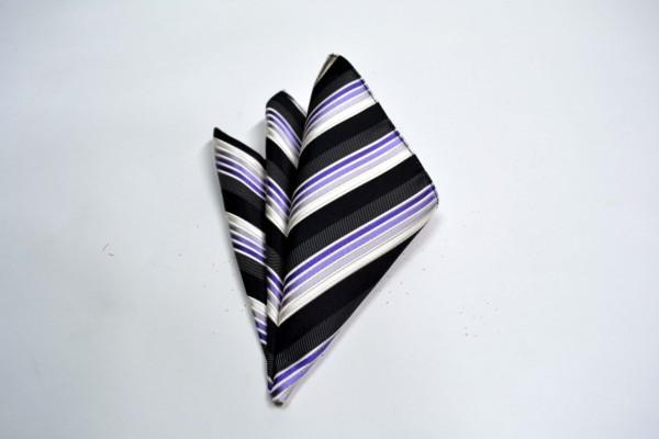 ポケットチーフ【黒と紫のグラデーションのポケットチーフ】