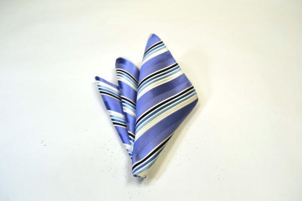 ポケットチーフ【水色地に紺とブルーのグラデーションのポケットチーフ】