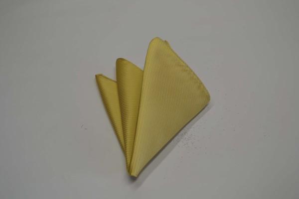 ポケットチーフ【濃い黄色(薄いゴールド)のソリッドポケットチーフ】