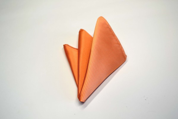 ポケットチーフ【淡いオレンジソリッド(無地)ポケットチーフ】