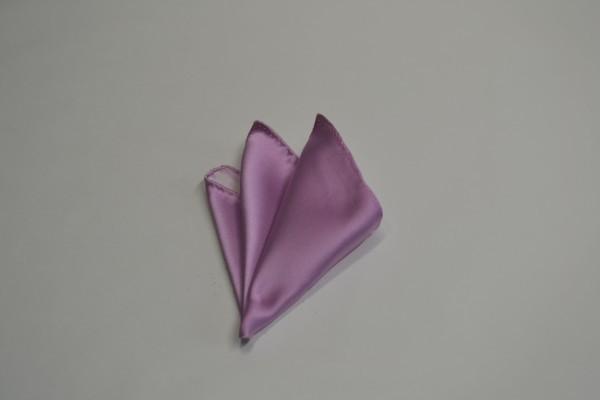 ポケットチーフ【ローズピンクのポケットチーフ】