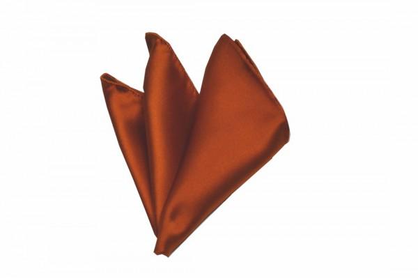 ポケットチーフ【テラコッタ(明るいレンガ色の様なオレンジ)サテン・ポケットチーフ】