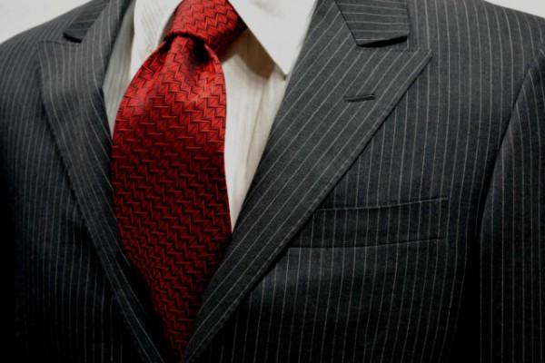 ネクタイ【赤の濃淡の小紋柄・無地ネクタイ 】