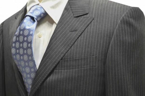 ネクタイ【水色の濃淡のメタリオン更紗柄ネクタイ】