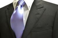 ネクタイ【濃い水色(ラベンダーかかった)のネクタイ】
