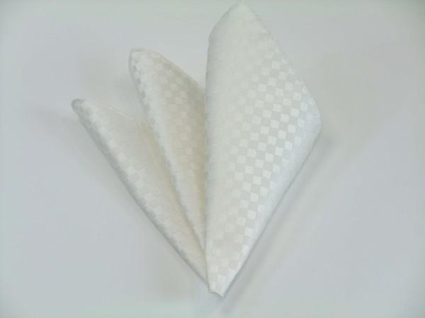 ポケットチーフ【白(ホワイト)(少し黄身かかっています)結婚式用市松模様チーフ】