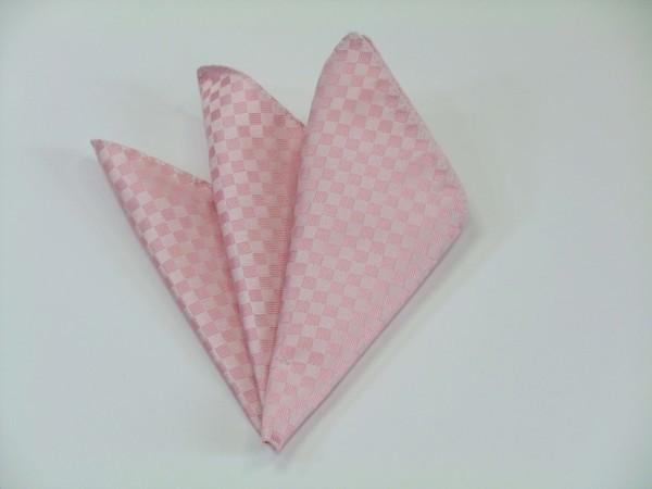 ポケットチーフ【ピンク 市松模様ポケットチーフ】