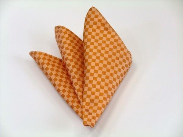 ポケットチーフ【オレンジ市松模様ポケットチーフ】