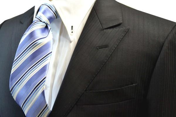 定番・市松模様 ネクタイ【水色地に紺とブルーのグラデーションネクタイ】