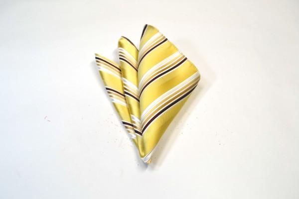 ポケットチーフ【黄色とゴールドと茶系のグラデーションのポケットチーフ】