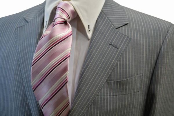 定番・市松模様 ネクタイ【ピンク地に濃いピンクのグラデーションネクタイ】
