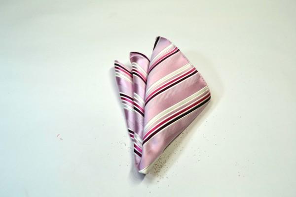 ポケットチーフ【ピンク地に濃いピンクのグラデーションのポケットチーフ】