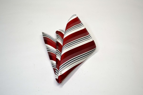ポケットチーフ【赤(レッド)地にグレーのグラデーションのポケットチーフ】