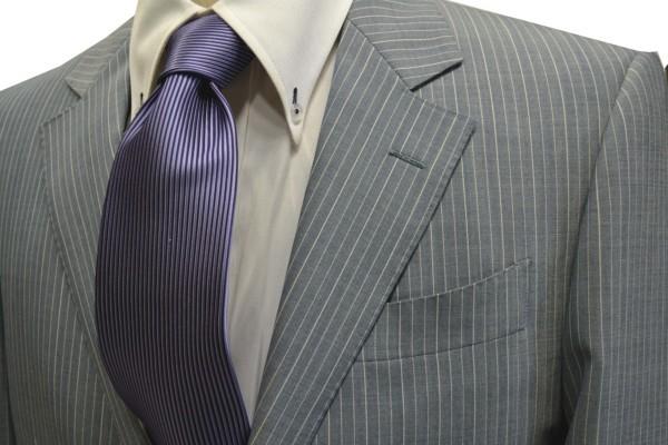 定番・市松模様 ネクタイ【紫のソリッド(無地)ネクタイ】