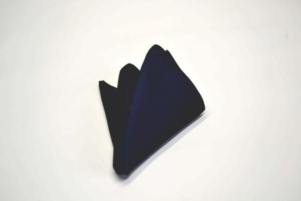 ポケットチーフ【ネイビー(紺)のソリッド(無地)ポケットチーフ】