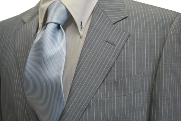 定番・市松模様 ネクタイ【淡い水色のソリッド(無地)ネクタイ】