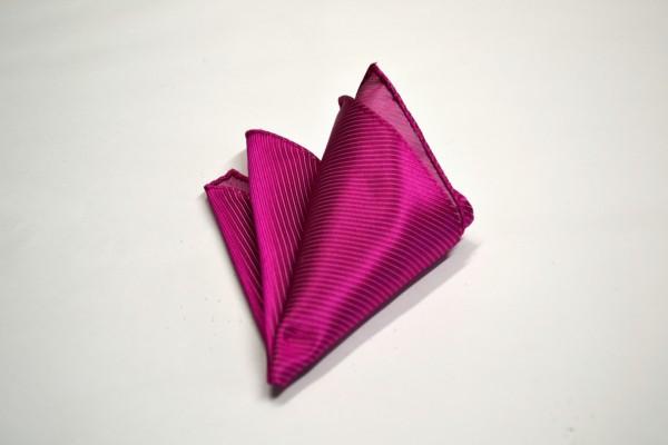ポケットチーフ【濃いローズピンクのソリッド(無地)ポケットチーフ】