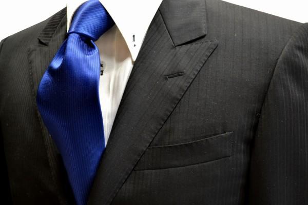 定番・市松模様 ネクタイ【濃いブルーのソリッドネクタイ】