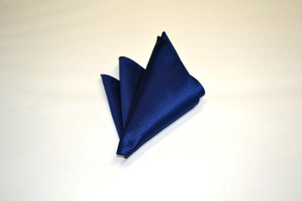 ポケットチーフ【濃いブルーのソリットポケットチーフ】