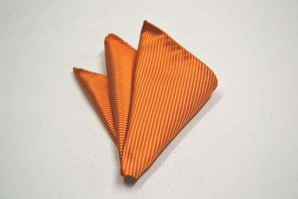 ポケットチーフ【オレンジ(濃い)ソリッド無地ポケットチーフ】