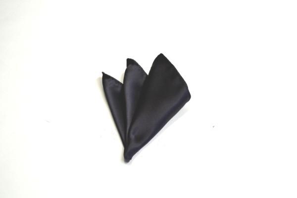 ポケットチーフ【濃いグレーのポケットチーフ】