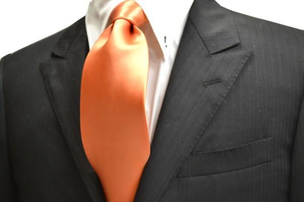 ネクタイ【爽やかなオレンジのネクタイ】