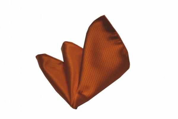 ポケットチーフ【テラコッタ(明るいレンガ色)のソリッド・ポケットチーフ】