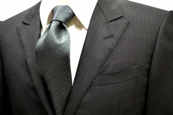 ネクタイ【モスグリーン(濃いグリーンのミックスの糸)ネクタイ】