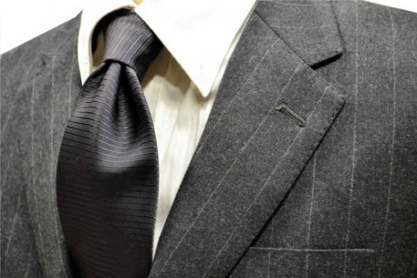 ネクタイ【濃いグレーのホリゾン・ネクタイ】