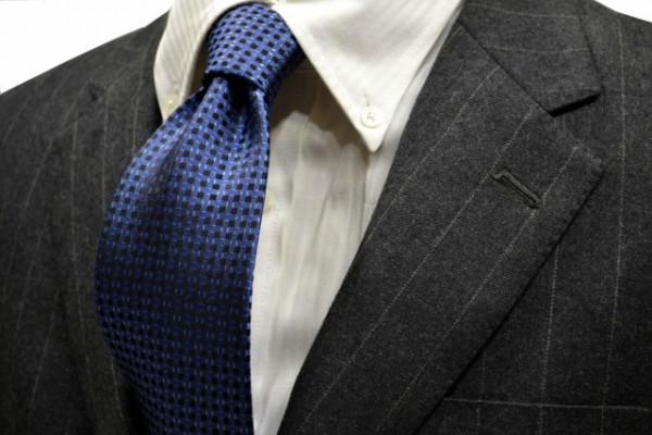 ネクタイ【ブルーの濃淡・小紋ネクタイ 】